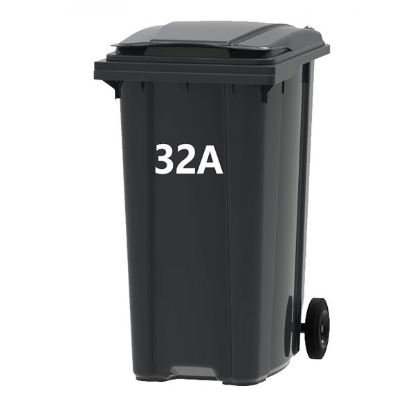 Wheelie bin numbers and letters
