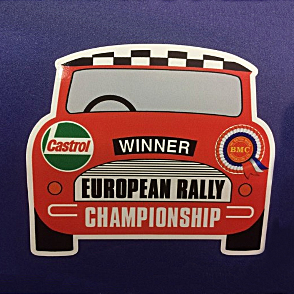 BMC ROSETTE & CASTROL EUROPEAN RALLY STICKER