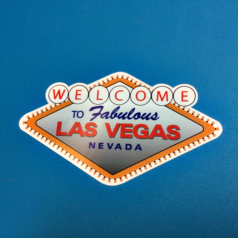 Las Vegas adhesive sticker
