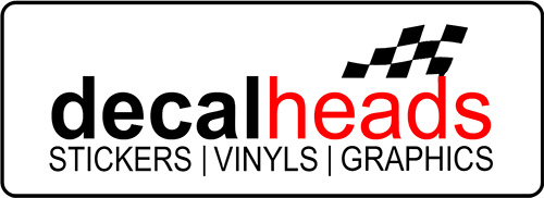 Decal Heads - Stickers which can be stuck to motor bikes, car, vans, trucks, laptops, tool boxes etc.