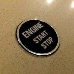 Imitation Start Stop Button Domed Sticker