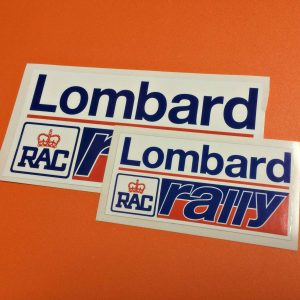 Lombard RAC Rally Stickers