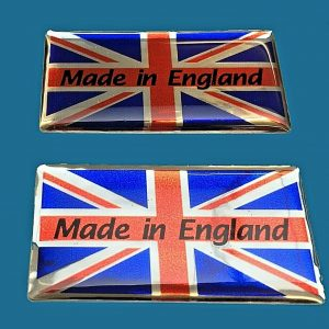 MADE IN ENGLAND UNION JACK STICKERS DOMED RESIN GEL