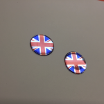 UNION JACK STICKERS DOMED RESIN GEL
