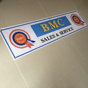 BMC Sales & Service Banner, for wall mounting. Great for a garage or workshop