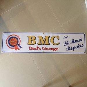 BMC 24 Hour Repairs Banner, printed on PVC vinyl fully weatherproof with brass eyelets for wall mounting