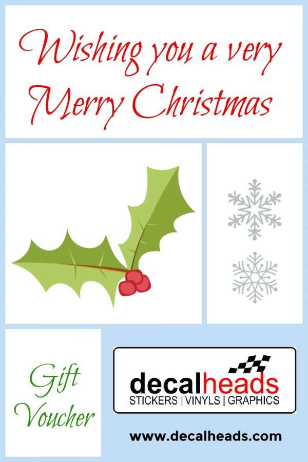 Gift Voucher - Decalheads A great Christmas gift to spend in our webshop.
