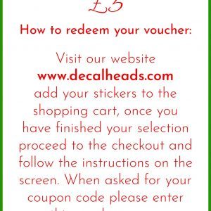 Reverse of voucher showing value and how to redeem